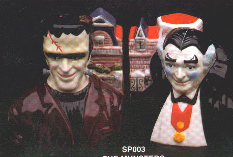 The Munsters Cookie Jars And Salt And Pepper Shakers By