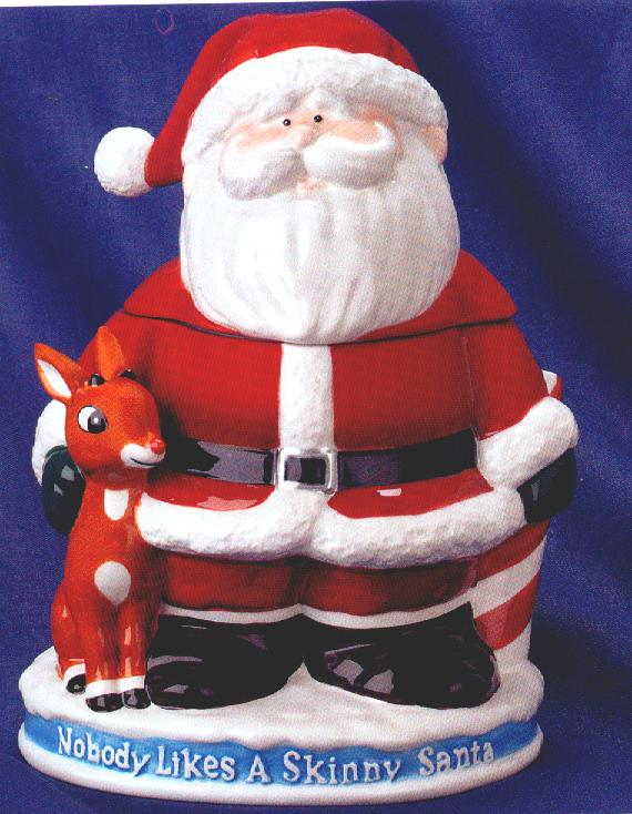 santa with rudolph cookie jarthird in the series by enesco 2003 - Rudolph And Santa